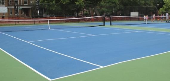 Tennis courts at Welles Park.