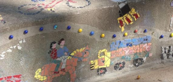 Playful Community Mosaic at Supera Park.
