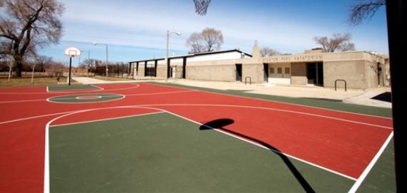 Stanton Building & Basketball Court
