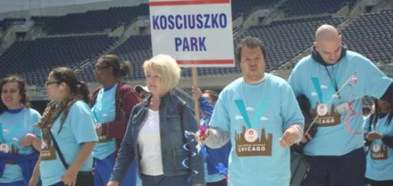 Kosciusko Park Athletes at Special Olympics Opening Ceremony at Soldier Field
