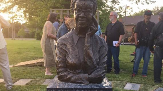 Bust honoring Gwendolyn Brooks