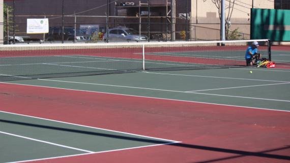 Outdoor tennis courts at Chase Park.