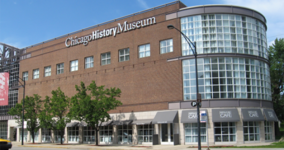 Outside view of the Chicago History Museum