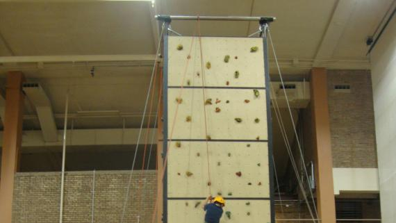 Climbing Wall at Broadway Armory Park