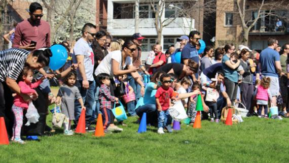 Egg hunts at Commercial Club Park