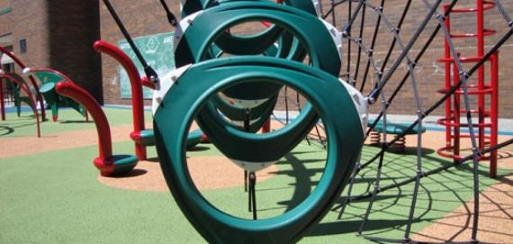 Check out the cool playground at Sheil Park.