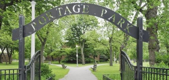 Entrance Portage Park Chicago Illinois 60610