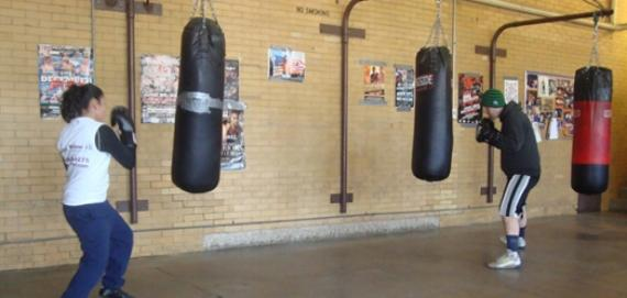 Boxing at Hamlin Park.