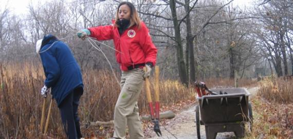 Volunteers at North Park Village Nature Center