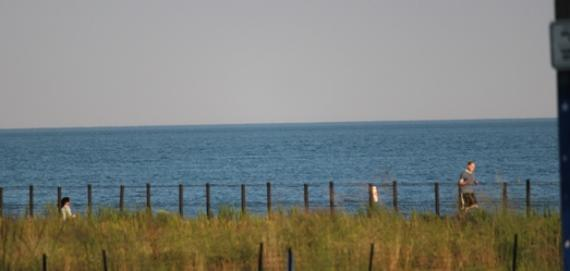 View of Lake Michigan from Tobey Prinz Beach Park