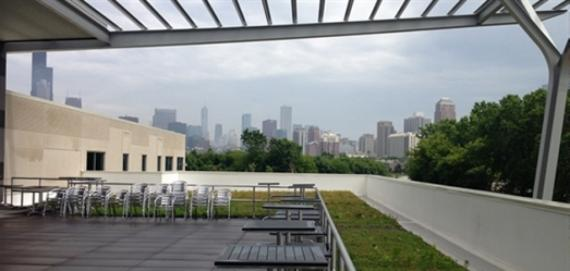 Amazing views from the fieldhouse rooftop