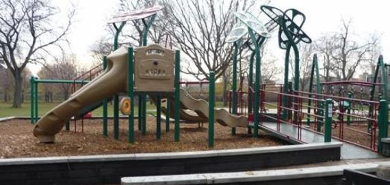 new chicago plays playground at Levin Park