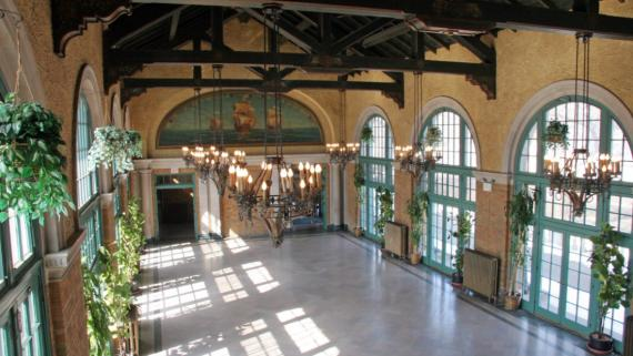 Inside the historic Refectory