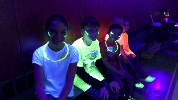 Our glow in the dark sports camp
