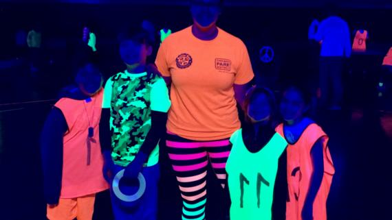 Glow in the Dark Sports Camp!