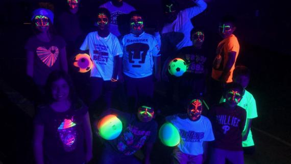 "Having ""glow"" much fun at Margate!"