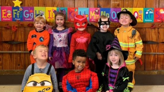 Happy Halloween from our Kiddie College!