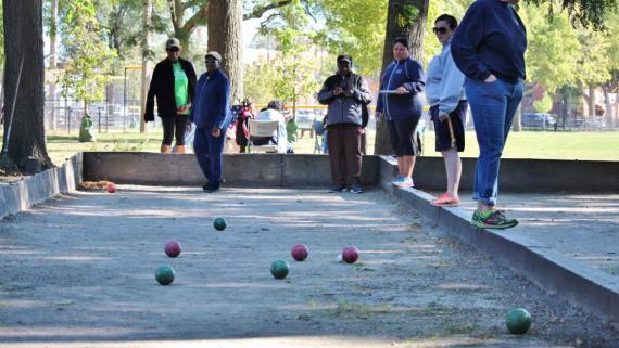 Bocce court at McGuane
