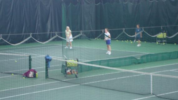 Indoor tennis courts at McFetridge Sports Center