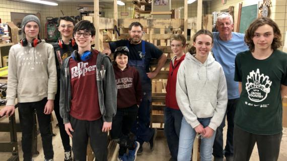 Our teens built a pallet house!