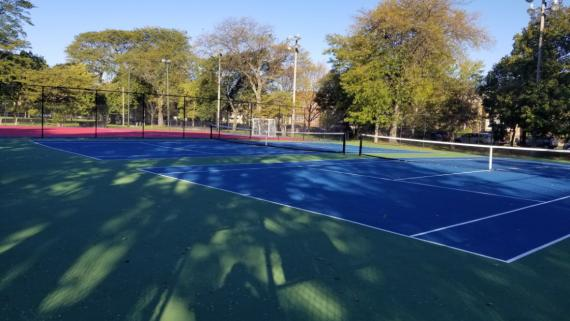 Check out our tennis court!