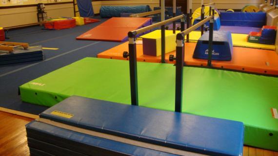 Gymnastic Center equipment at Shabbona Park