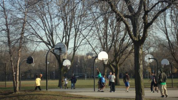 Outdoor Basketball Court at Warren Park