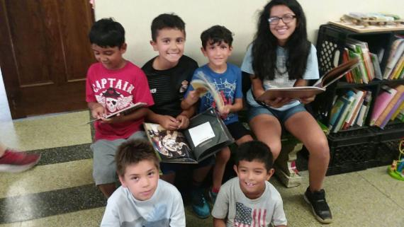 Our campers love to read!
